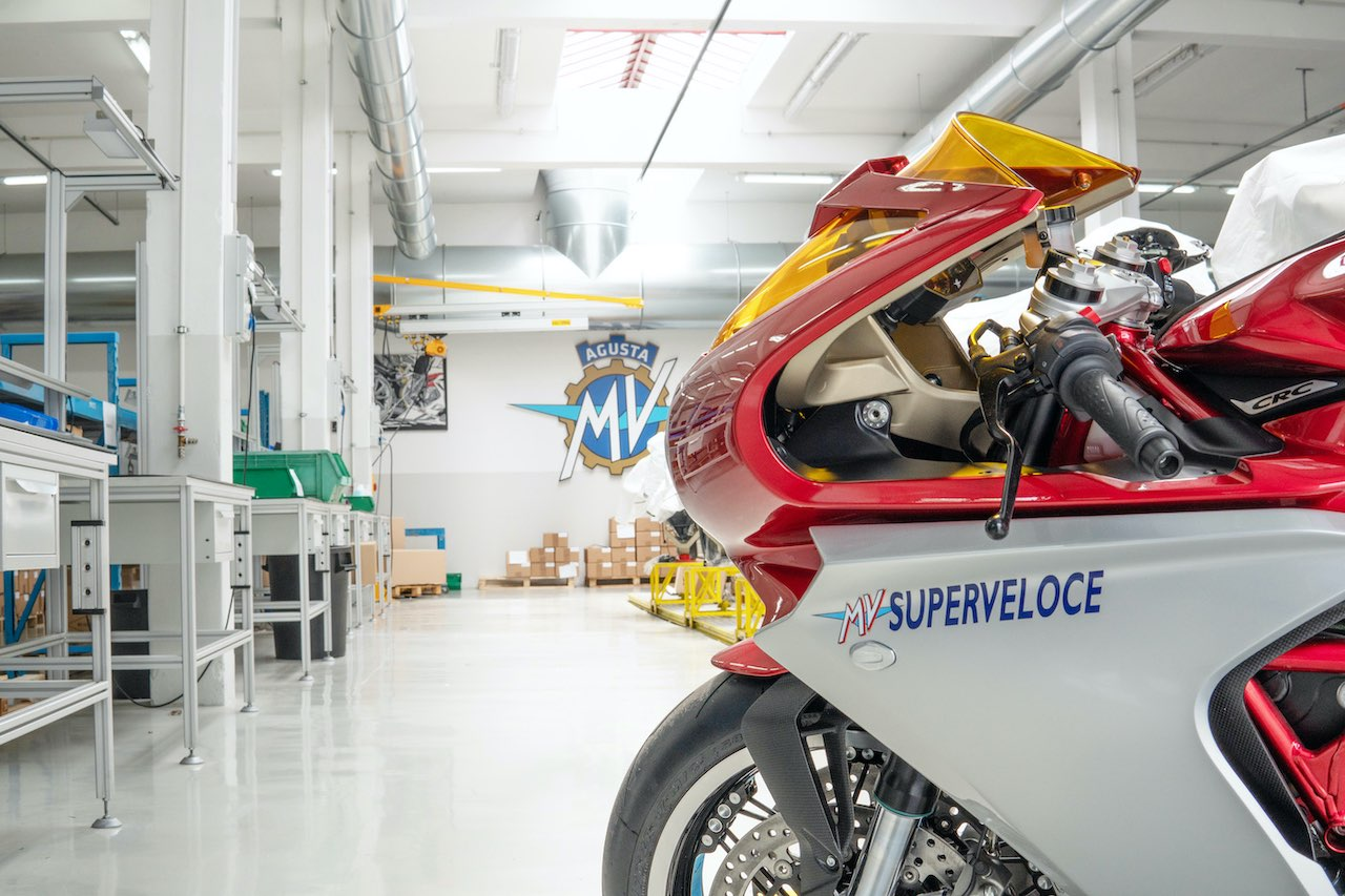 MV Agusta - with Factory background