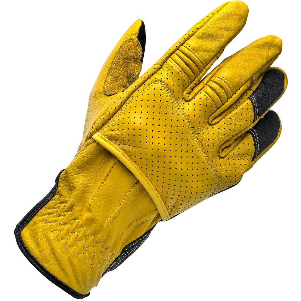 Biltwell Borrego Gloves - Gold/Black Right hand