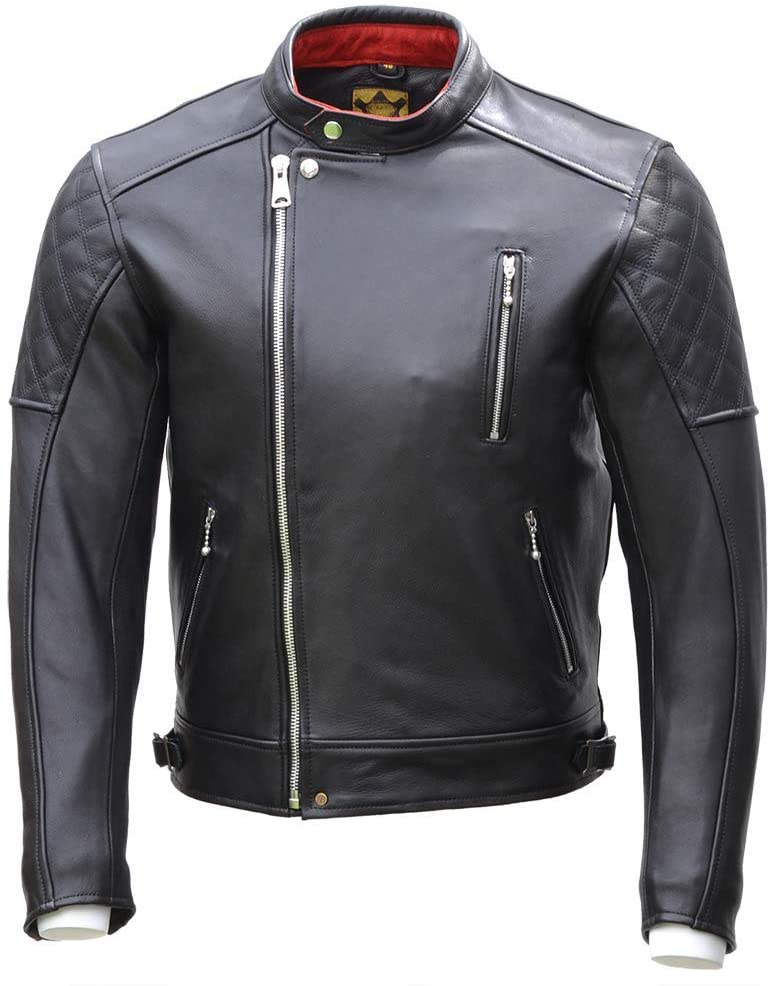 Zipped Goldtop England Leather Jacket Black
