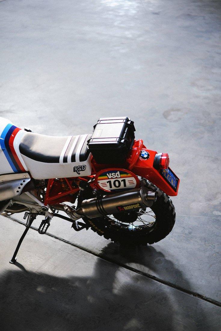 Roland Sand Design Dakar-GS rear overhead
