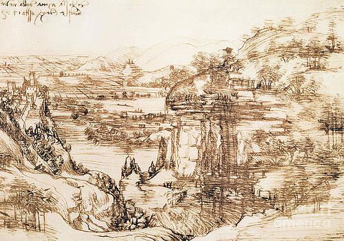 Leonardo da Vinci - Arno Paisaje
