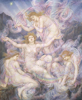 Evelyn De Morgan - Daughters of the Mist