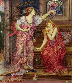 Evelyn De Morgan - Queen Eleanor and Fair Rosamund