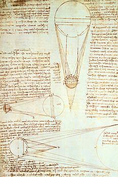 Leonardo Da Vinci - Estudios de la iluminación de la Luna