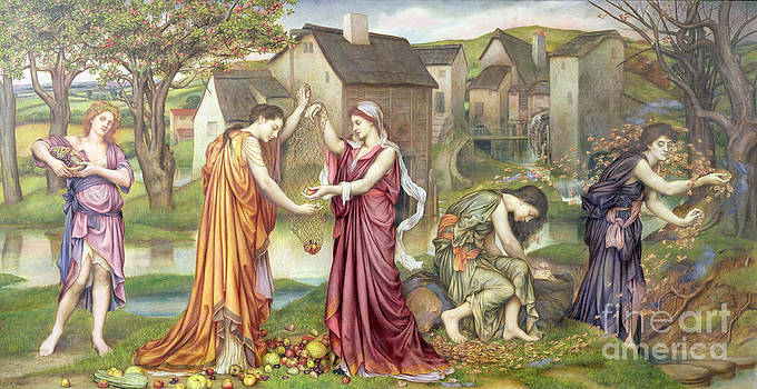 Evelyn De Morgan - The Cadence of Autumn