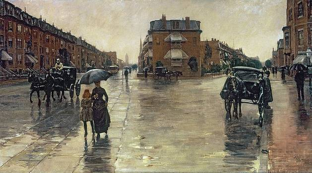 Childe Hassam - A Rainy Day in Boston