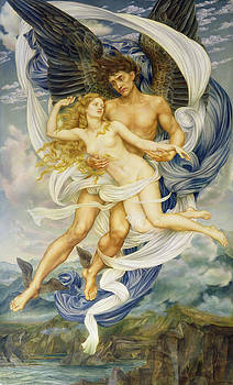 Evelyn De Morgan - Boreas and Oreithyia