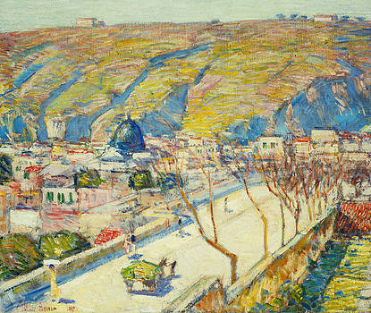 Childe Hassam - Bridge at Posilippo at Naples