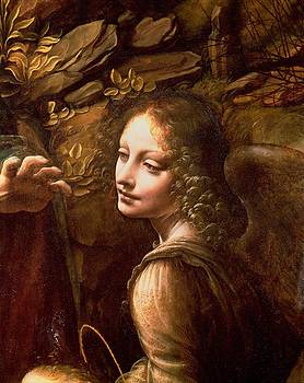 Leonardo Da Vinci - Detail of the Angel from The Virgin of the Rocks