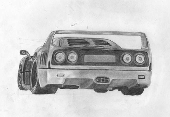 Cool Car Drawings Fine Art America