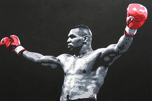 boxing wall art pixels