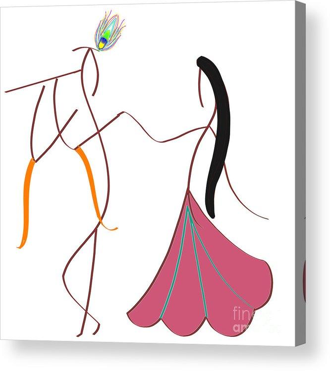 Radha Krishna Acrylic Print By Pratyasha Nithin