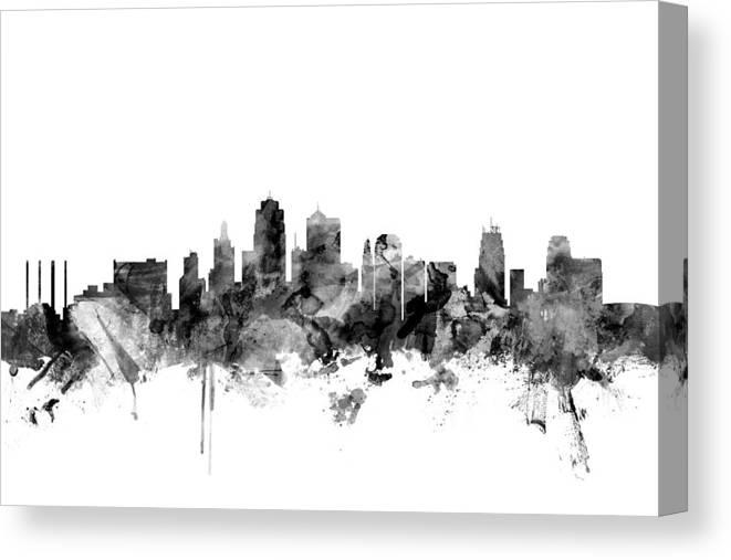 Skyline Kansas Canvas City