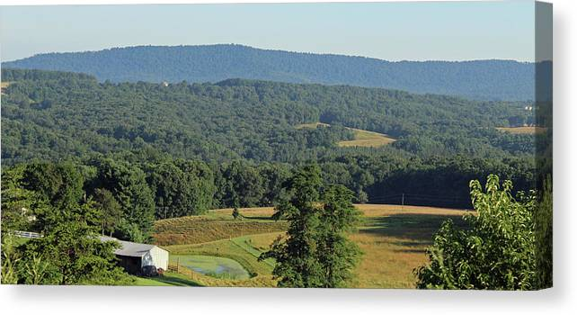 Nature Canvas Print featuring the photograph western Maryland mountains by Holly Morris