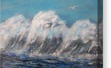 Surreal Waves Painting Painting For Home