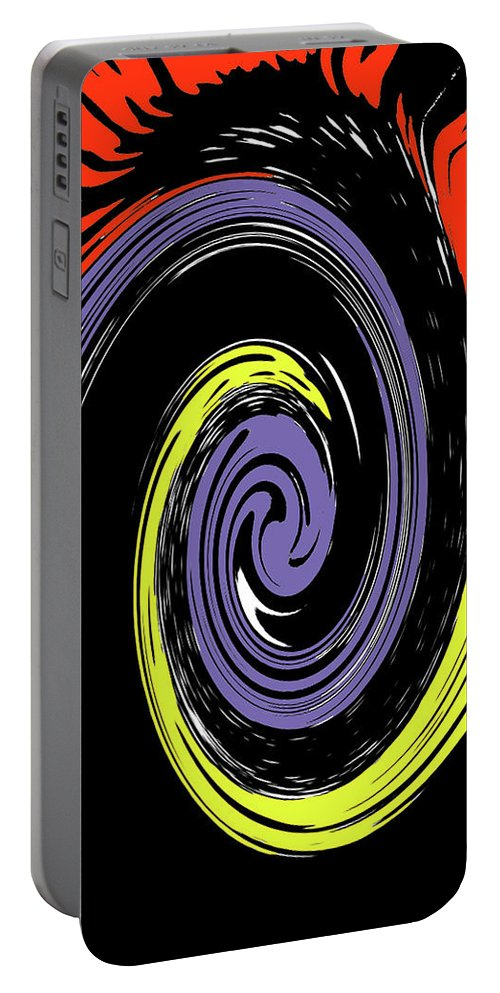 Abstract Portable Battery Charger featuring the photograph Colorful Swirl by Holly Morris