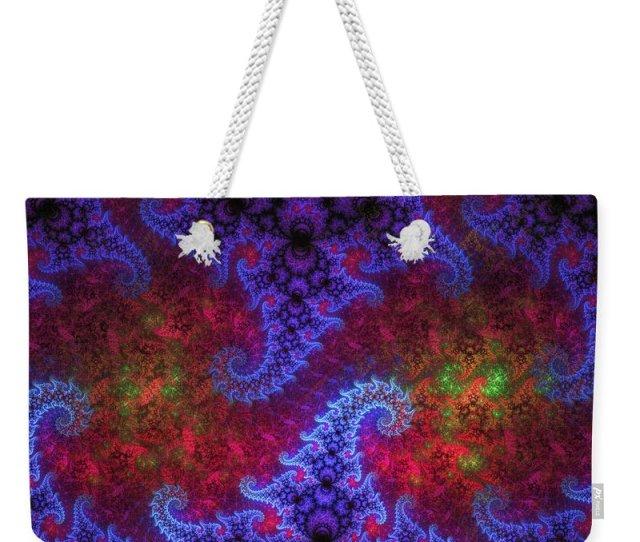 Fractal Weekender Tote Bag Featuring The Digital Art Mobius Unleashed By Gj Blackman