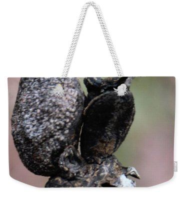 Season Weekender Tote Bag featuring the photograph Grumpy On A Pedestal by Holly Morris