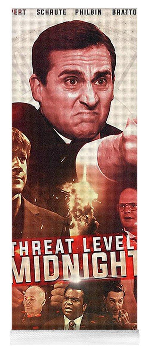 threat level midnight movie poster yoga mat