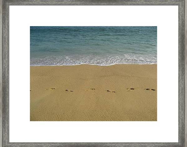 Footprints Framed Print featuring the photograph Footprints In Acapulco 2 by Tatiana Travelways