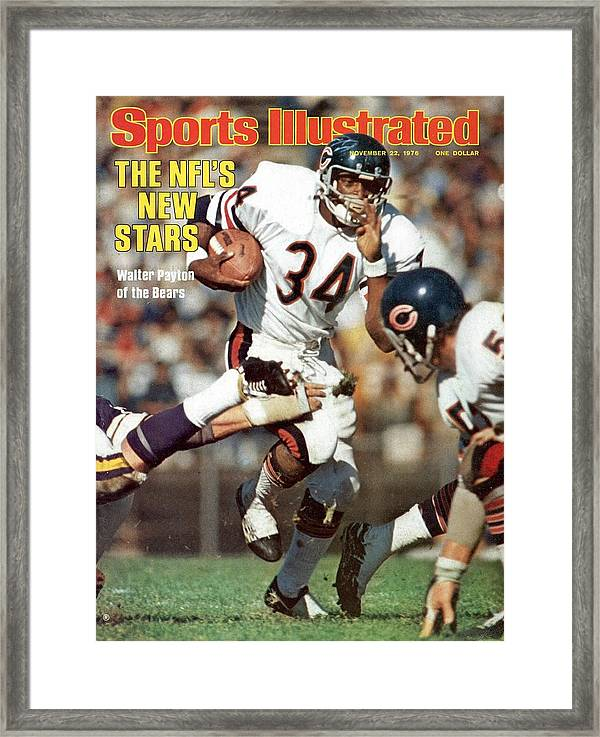 chicago bears walter payton sports illustrated cover framed print