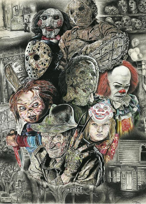 Jason Voorhees Greeting Cards For Sale
