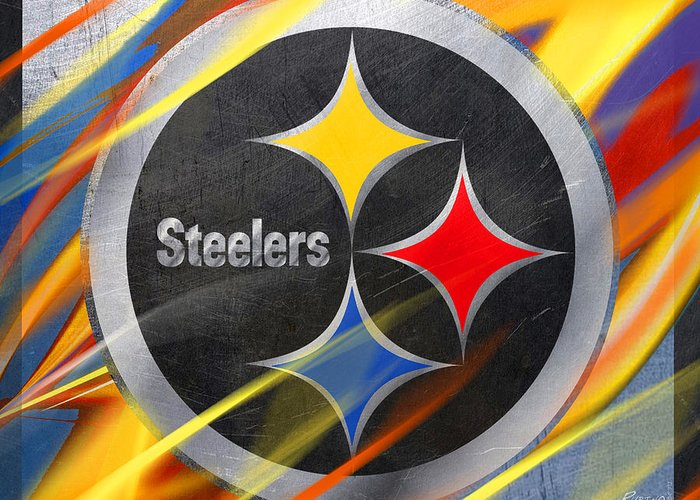Pittsburgh Steelers Football Greeting Card For Sale By Tony Rubino