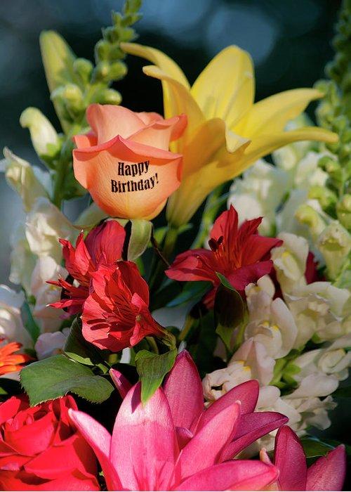 Happy Birthday Flowers Portrait Greeting Card For Sale By Shaddowcat Arts Sherry