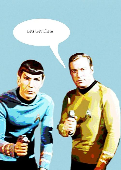 Star Trek 2 Greeting Card For Sale By Chandler Douglas