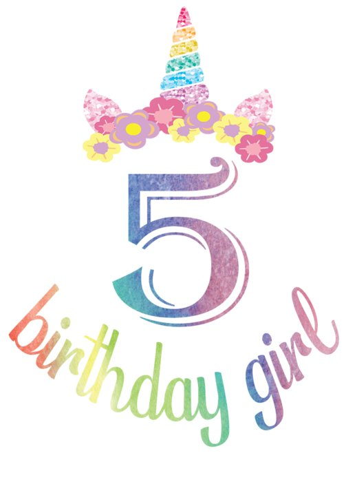 5th Birthday Girl Boys Tshirt 5 Years Old Party Gift Greeting Card For Sale By Art Grabitees