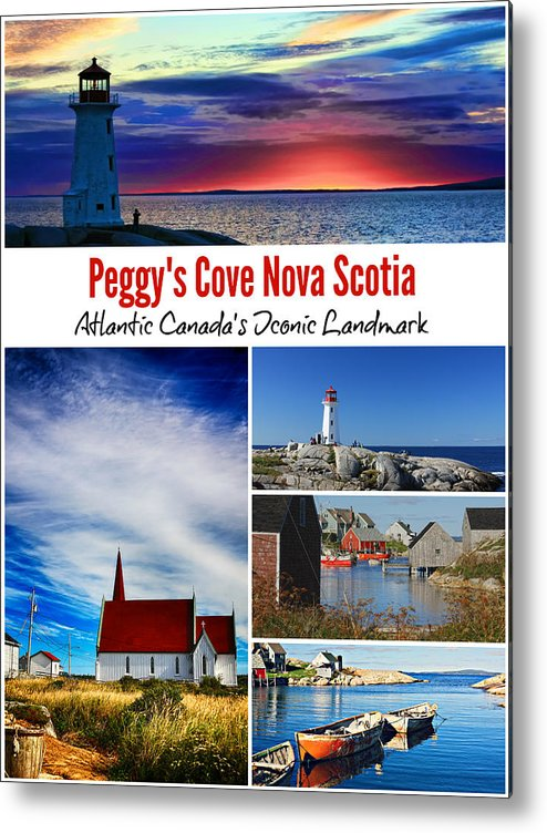 Peggy's Cove Metal Print featuring the photograph Peggy's Cove, Nova Scotia Poster by Tatiana Travelways