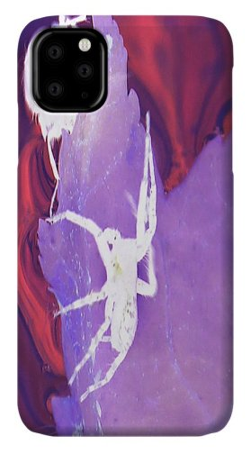 Abstract IPhone Case featuring the photograph A Spider And Its Dinner Abstract by Holly Morris