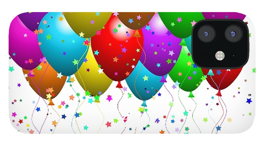Happy Birthday Balloons Iphone 12 Case For Sale By Debra Miller