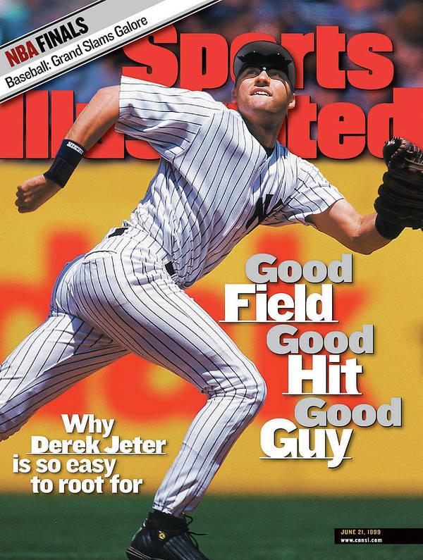 new york yankees derek jeter sports illustrated cover poster