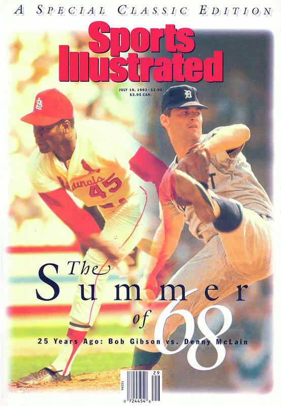 st louis cardinals bob gibson and detroit tigers denny sports illustrated cover poster