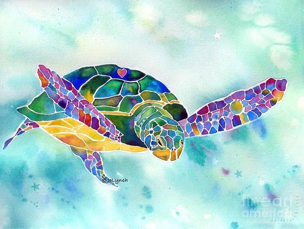 sea weed sea turtle poster