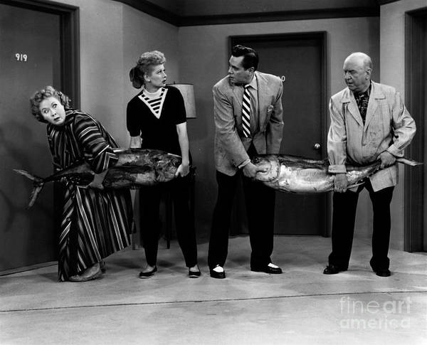 hauling fish on i love lucy poster