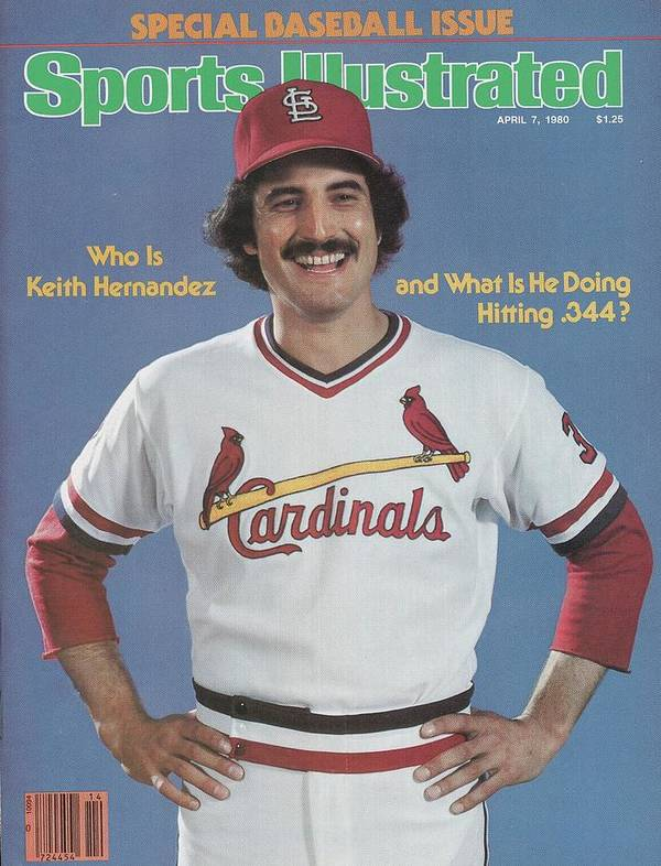 st louis cardinals keith hernandez sports illustrated cover poster
