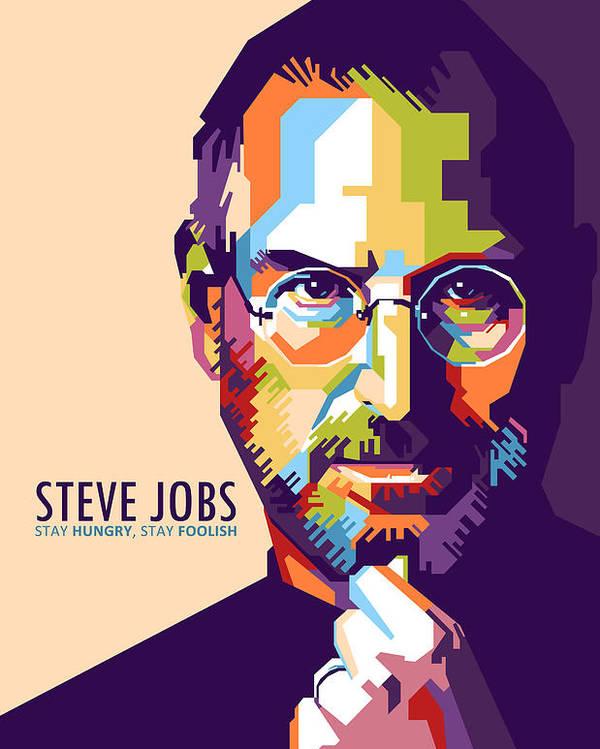 steve jobs in wpap poster