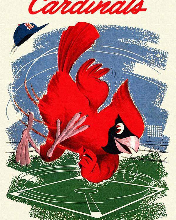 st louis cardinals vintage 1958 scorecard poster