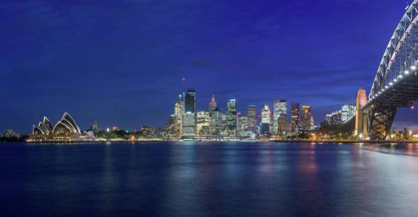 Sydney Skyline at Night by Kim Wilder Hinson