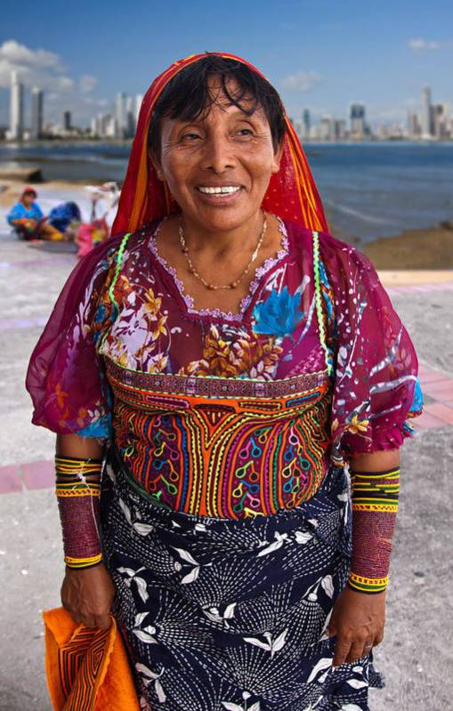 Crafts Art Print featuring the photograph Craft Vendor In Panama City, Panama by Tatiana Travelways