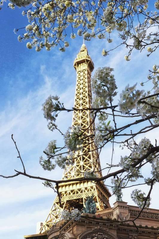 Paris Art Print featuring the photograph Paris Las Vegas by Tatiana Travelways