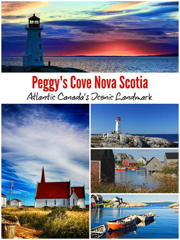 Peggy's Cove Art Print featuring the photograph Peggy's Cove, Nova Scotia Poster by Tatiana Travelways