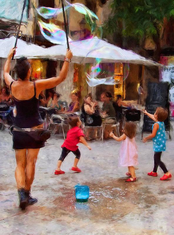 Soap balloons play Barcelona Digital Art