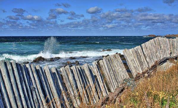 Cape Bonavista Art Print featuring the photograph Cape Bonavista Coastline Fence 3 by Tatiana Travelways