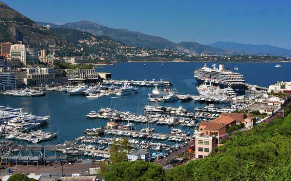 Monte Carlo Art Print featuring the photograph Monte Carlo, Monaco View Of The Bay And Harbor by Tatiana Travelways