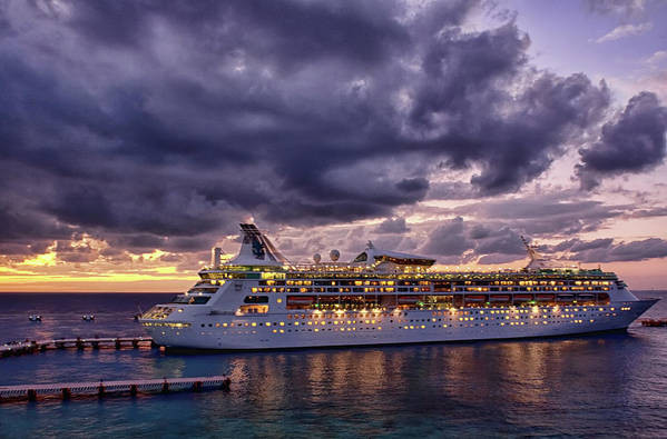 Late Art Print featuring the photograph Late Arrival In Cozumel by Tatiana Travelways