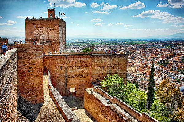 Alhambra Art Print featuring the photograph Alhambra Tower by Tatiana Travelways
