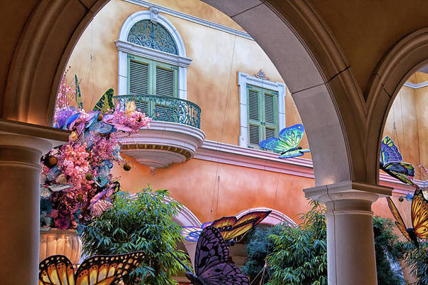 Bellagio Las Vegas Art Print featuring the photograph Bellagio Las Vegas At Springtine by Tatiana Travelways